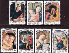 Dominica 1976 Christmas Set Fine Mint SG 542 8 Scott 502 8 Other Fine Stamps Here