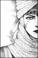 Ausmalen Erwachsene Gesicht orientalische Frau