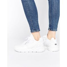 83cf76e39 adidas Originals Tubular White Sneakers ( 119) ❤ liked on Polyvore  featuring shoes