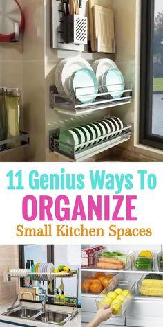 Kitchen Storage Hacks, Kitchen Organization Pantry, Home Organization, Storage Ideas, Ikea Pantry, Refrigerator Organization, Small Space Organization, Organizing Small Kitchens, Bag Storage