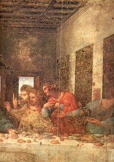 Leonardo.Last supper. Detail, Christ.1495-1498.[S.Maria delle Grazie. Milan]