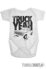 """Country baby onesie - """"Truck Yeah"""" onesie from TumbleRoot"""