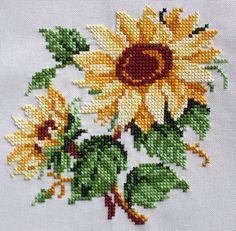 Sunflower Quilting Insert for DIY Pillow Hand Cross by GThreads