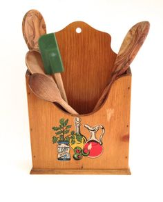 Vintage Kitchen Organizer Utensil Caddy Holdall by PoolhausVintage