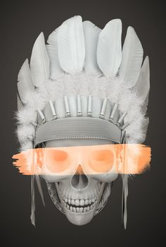 INDIAN SKULL by pi3r , via Behance