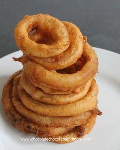 Easy Beer Battered Onion Rings - #Food # http://chocolatechocolateandmore.com/2013/06/easy-beer-battered-onion-rings/