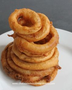 Easy Beer Battered Onion Rings - #Food #Recipe