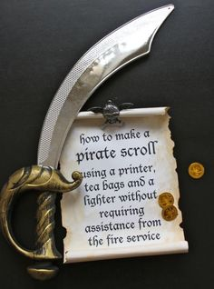 How to make pirate scroll