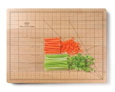 "it's time to let your inner obsessive loose in the kitchen, with this precision cutting board. The durable, beechwood board is clearly printed with absurdly detailed measurement markings, allowing you to chop perfectly square roots or calculate a slice of ""pi"" with absolute precision"