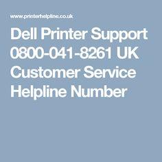 Dell Printer Support 0800-041-8261 UK Customer Service Helpline Number