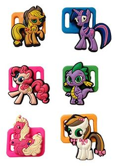 Little Pony Shoelace Decoration Clips 6 Pcs Set 2 * Find out more about the great product at the image link.