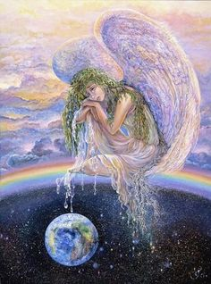 angels around earth, tearfully waiting for us to wake up and listen.