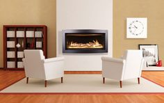 Interior Affordable Gas Fireplace Repair Front 2 White Furniture Chairs Above Laminate Wood Floor Beside Bookshelves And Wall Clock Gas Fireplace Repair