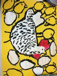 Hen, Eggs, and Chicks...Haycock Elementary Art Blog