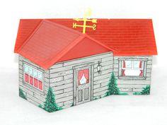 Vintage Tin Toy MARX Tin Toys Farm House Playset Collectible Metal Toys MARX TOY
