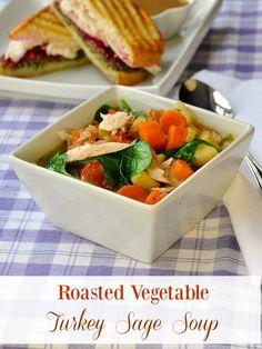 roasted vegetable turkey sage soup roasted vegetable turkey sage soup ...