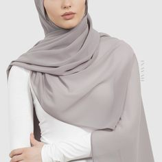 Perfect hijabs for Spring/Summer Styling - Taupe Soft Crepe #Hijab www.inayah.co