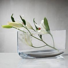 Nude This table vase offers maximum impact with or without flowers. Crafted from lead-free crystal, this stunning piece brings together curved forms, clarity and subtle lines for a design that is at once ethereal and up-to-date. Color: Clear, Size: Wide