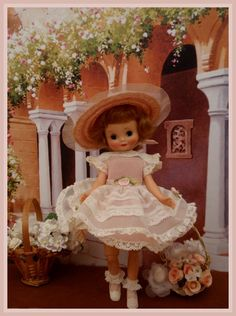 Betsy McCall. First doll that I ever had that could bend her legs. When I took her for show & tell all the other girls were amazed she could sit down. I love her.