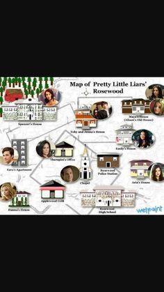 Pin 3: Het verhaal speelt zich af in Rosewood, Pennsylvania, een rijkeluisstadje. Er is een vreselijk geheim in het stadje: en dat kan de levens van de populaire Aria, Emily, Spencer en Hanna helemaal ruïneren. Iemand die zich 'A' noemt, dreigt dat te gaan doen. Maar wie zou dat nou doen? En kan je je beste vriendinnen wel vertrouwen? Alles in het verhaal speelt zich af rond Rosewood, in alle delen.