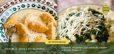 Due ricette vegetariane e due tipologie di gnocchi, qual è la vostra preferita?