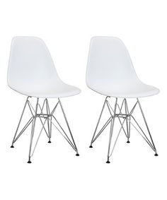 Look at this #zulilyfind! White Midcentury Side Chair - Set of Two #zulilyfinds