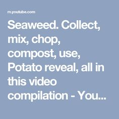 Seaweed.  Collect, mix, chop, compost, use, Potato reveal, all in this video compilation - YouTube