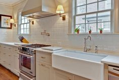 Backsplash tile is an easy way to add color, pattern and texture to your kitchen.