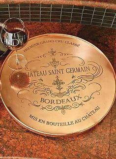 Gift the wine lover or entertaining enthusiast in your life with the Copper Etched Lazy Susan that you can customize to give them a truly personal entertaining experience.