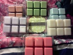 Make your own wax melts!  1 cup of parafin wax shredded with cheese grater  30 drops essential oil  melt wax slowly in a pan on stove then poor into empty wax melt container or any other plastic shape you would like Put in freezer until re-set and firm