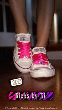 XO Kicks by Ki ~ Customized Converse Chucks Kicks Toms Vans canvas shoes Bling Vans Canvas Shoes, Soup Company, Turtle Soup, Bling Shoes, Fashion Shoes, Kicks, Converse, Pairs, Trending Outfits