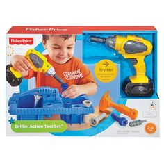 Fisher Price Drillin' Action Tool Set | Kmart $25