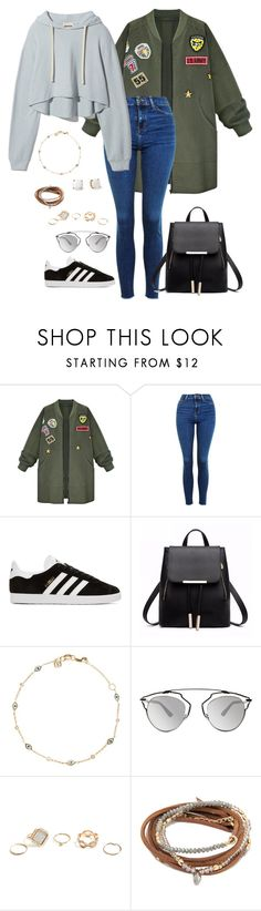 """""""save me (outfit 3)"""" by kierstin518 on Polyvore featuring WithChic, Topshop, adidas Originals, Christian Dior, GUESS and Kate Spade"""