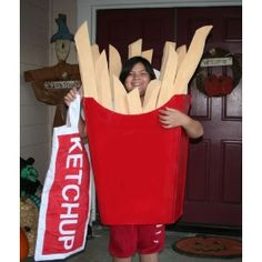 French fries Costume | Easy Homemade Halloween Costumes | Disney Family.com