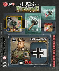 Devil Pig : [UPDATE #1]Preview KS: Karl von Croc & Private Brian Pig Games, Colossal Art, Game Design, Crocs, Card Games, Devil, Baseball Cards, Apocalypse, Tabletop