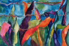 Art Painting Watercolor Tropical Leave Barbed Wire by vhmckenzie Painting & Drawing, Watercolor Paintings, Original Paintings, Metal Art Sculpture, Scrap Metal Art, Coastal Art, Funny Tattoos, Tropical Art, Beach Scenes