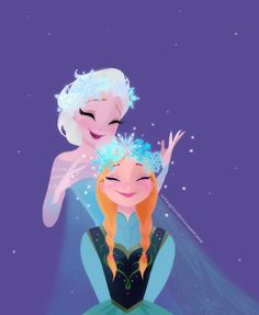 Photo of Elsa and Anna for fans of Frozen. Frozen I love this art style. Walt Disney, Disney Magic, Disney Frozen, Disney Art, Disney Movies, Disney Characters, Frozen Art, Anna Frozen, Arendelle Frozen