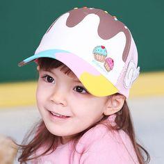 59ee844cddf17 Icecream Shaped Summer Child Baseball Caps Girl Sunbonnet Sun Hats Baseball  Caps