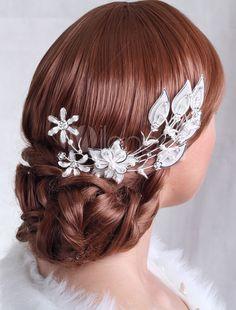 Luxury Metal Pearls Wedding Hairpin
