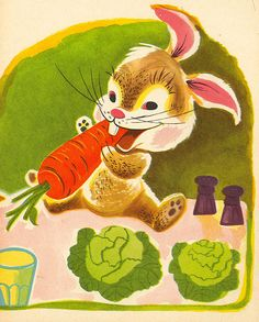 The Hungry Baby Bunny Page by Bea Rabin Seiden