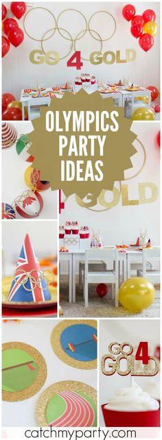 Go for the Gold at this 2016 Summer Olympics party! See more party ideas at Catchmyparty.com!