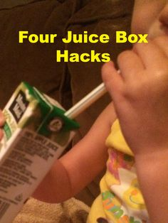 Hint Mama shares four simple tricks to ensure your traditional juice boxes don't go to waste. #hacks #parentinghacks