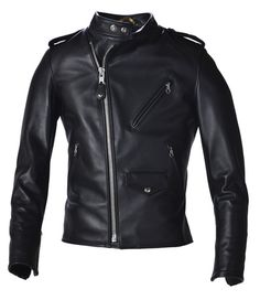 Schott 603USA Cafecto Steerhide Hybrid Cafe Racer Asymmetrical Leather Motorcycle Jacket