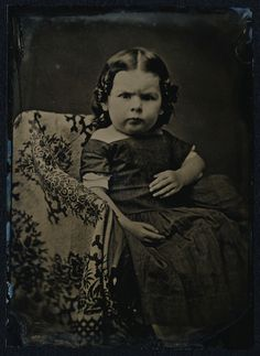 1 2 Plate Tintype Super Quality Image of A Child with Attitude Seriously   eBay