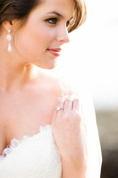 Bridals by Lori wedding dress. Outdoor bridal portraits.