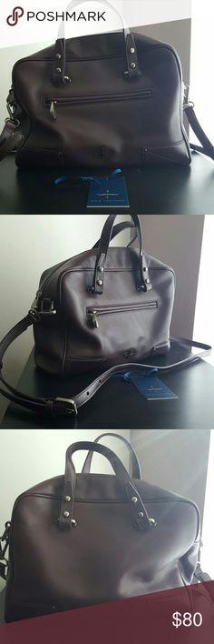 Pour La Victoire Marcelle Satchel Good pre-owned condition. Real leather. Deep purple color. Pour la Victoire Bags Satchels