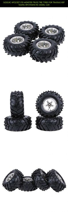 GoolRC 4Pcs/Set 1/10 Monster Truck Tire Tyres for Traxxas HSP Tamiya HPI Kyosho RC Model Car #products #tech #racing #camera #fpv #kit #drone #parts #tires #shopping #plans #technology #goolrc #gadgets
