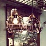 Mooie koperen lampen bij VanEtje