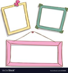 Cute frame vector image on VectorStock Cardboard Picture Frames, Cute Picture Frames, Cute Frames, Flower Background Wallpaper, Framed Wallpaper, School Board Decoration, Instagram Frame Template, Powerpoint Background Design, Photo Collage Template