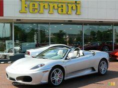Silver Ferrari F430 Spyder